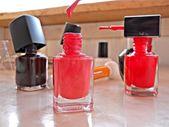 Red polish nail — Stock Photo