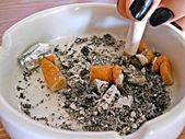 Cigarettes on ashtray — Stock Photo