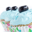 Three Blue Cupcakes — Stock Photo