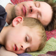 Father and Son Sleeping — Stock Photo