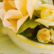 Artistic Vintage Yellow Roses — Stock Photo