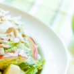 krokante apple en zonnebloempitten salade — Stockfoto