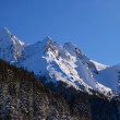 View of Maly Giewont peak in winter time - Stock Photo
