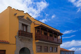 Traditional house built in Canary style in La Orotava town, Tenerife — Stock Photo