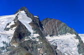 View of glacier on Grossglockner mountain, — Stock Photo