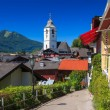 View of streen in Sankt Wolfgang town in summer — Stock Photo