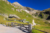 Wooden gate in mountain area of Hohe Tauern National Park — Stock Photo