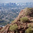 Phoenix Downtown: view from Camelback Mountain — Stock Photo #12302139