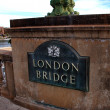 London Bridge sign in Lake Havasu City — Stock Photo