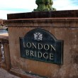 Royalty-Free Stock Photo: London Bridge sign in Lake Havasu City