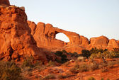 Arches National Park at sunset — Foto Stock