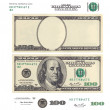Clear 100 dollar banknote template and elements — Stock Photo #27270649