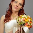 Close up of a nice young wedding bride — Stock Photo