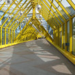 Royalty-Free Stock Photo: Yellow metal bridge