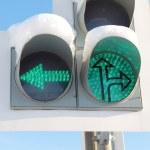 LED traffic light — Stock Photo