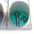 LED traffic light - 图库照片