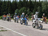 Voor moto start — Stockfoto