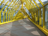 Yellow metal bridge — Stock Photo