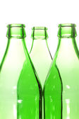 Three glass bottle neck — Stock Photo