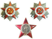 Two order and red star of II world war — Stock Photo