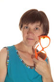 Emotional middle-aged woman. — Stock Photo