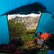 View from tent - Stock Photo