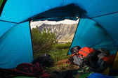 View from tent — Stock Photo