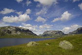 The nature of summer Norway. Mountains. — Stock Photo