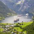 Stock Photo: Nature of summer Norway. Mountains and fjords.