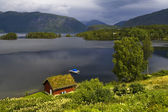 The nature of summer Norway. Mountains, lakes. Fjords of Norway. — Стоковое фото