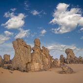 Rocks among sand. Libyan Desert — Stock Photo