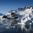 Glaciers and icebergs of Antarctic Peninsula — Foto Stock
