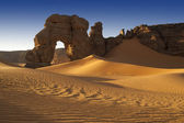 Removed rocks in the Sahara Desert, Libya — Stock Photo