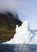 Nature of Antarctic Peninsula. Ices and icebergs — Stock Photo
