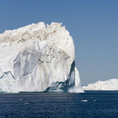 Blue icebergs of Greenland — Stock Photo