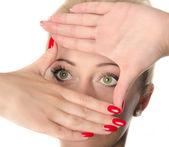 Woman eyes, isolated on white — Stock Photo