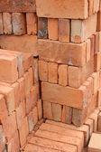 Rows of Adobe Bricks Drying in the Sun — Stock Photo