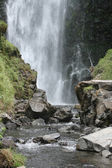 Peguche Falls Framed by Rocks — Stock Photo