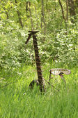 Antique Grass Cutter in a Field — Stock Photo