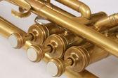 Tubos y válvulas de trompeta de cobre vintage — Foto de Stock