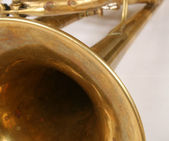 Brass Trumpet Bell and Tubing — Stock fotografie