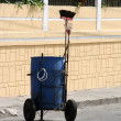 Foto de Stock  : Street Cleaning Garbage Bin
