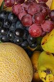 Grapes Melons and Bananas — Stock Photo
