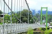 Bir nehir üzerinde köprü — Stok fotoğraf