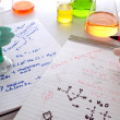 Stock Photo: Chemistry Experiment in Science Research Lab