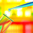 Laboratory Experiment in Science Research Lab — Stock Photo