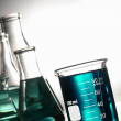 Laboratory Glassware in Science Research Lab — Stok fotoğraf