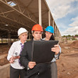 Stock Photo: Group of engineers at construction site