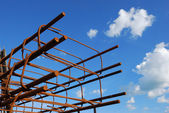 Steel building armature — Stock Photo