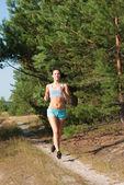 Morning jogging — Stock Photo